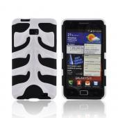 Original Nex AT&amp;T Samsung Galaxy S2 Rubberized Hard Fishbone on Silicone Case w/ Screen Protector, SAMI777FB21 - White/ Black