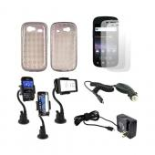 Google Nexus S 4G Essential Bundle Package w/ Smoke Crystal Silicone Case, Screen Protector - 2 Pack, Macally Suction Mount, Car & Travel Charger