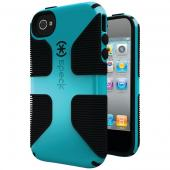 SPECK SPK-A0799 IPHONE(R) 4S CANDYSHELL GRIP CASE (PEACOCK/BLACK)