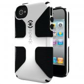 SPECK SPK-A0800 IPHONE(R) 4S CANDYSHELL GRIP CASE (WHITE/BLACK)