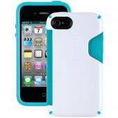 SPECK SPK-A0806 IPHONE(R) 4S CANDYSHELL CARD CASE (WHITE/PEACOCK)