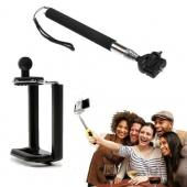 Handheld Extendable Selfie Stick - Monopod Self-Portrait Selfie Stick w/ Rotating Head (Can fit iPhone 6 Plus, Galaxy Note 4) - Take the perfect selfie from your phone or GoPro! - Great for traveling, parties, events, family gatherings, & holidays!