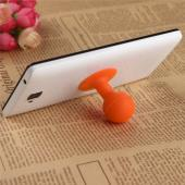 Universal Portable Cell Phone Silicone Suction Ball Stand Holder - Orange