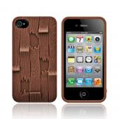 Original SwitchEasy AT&T/ Verizon Apple iPhone 4, iPhone 4S Avant-Garde Plank Hard Case w/ Screen Protector, SW-PLAS4S-BR - Brown Wood Planks