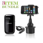 T-Mobile G2 Bundle Package - Macally Cup Holder, Car Charger &amp; Samsung HF1000 Hands-free Bluetooth Speakerphone - (Roadster Combo)