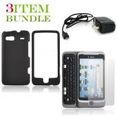 T-Mobile G2 Bundle Package - Black Hard Case, Screen Protector &amp; Travel Charger - (Essential Combo)