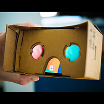 SMALL Virtual Reality Cardboard 3D Glasses DIY Tool Kit with NFC and Easy Setup - [Unlimited LONG hours of FUN with loads of apps to choose from, GREAT way to spend quality time with the kids, GEEK Magnet!]