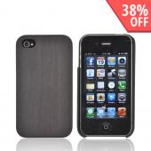 """Exclusive"" TPhone Eco-Design Apple Verizon/ AT&T iPhone 4, iPhone 4S 100% Hard Wood Back Cover Case - Sonokeling Black Wood"