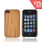 """Exclusive"" TPhone Eco-Design Apple Verizon/ AT&T iPhone 4, iPhone 4S 100% Hard Wood Back Cover Case - Teak Brown Wood"