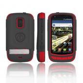 Trident AMS Samsung Galaxy S Aviator Hard Case Over Silicone w/ Screen Protector, Kickstand, & Belt Clip - Red/ Black