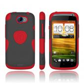 Original Trident Aegis HTC One S Hard Cover Over Silicone Case w/ Screen Protector, AG-VILLE-RD - Red/ Black