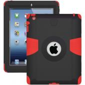 Original Trident Kraken AMS Apple New iPad Hard on Silicone Case w/ Built-In Screen Protector, AMS-NEW-IPAD-RD - Black/ Red