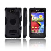 Trident Aegis LG Lucid 4G Hard Cover Over Silicone Case w/ Screen Protector - Black