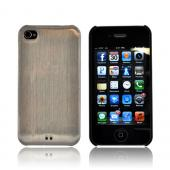 Original Luxmo Platinum Lux Jacket AT&amp;T/ Verizon Apple iPhone 4, iPhone 4S Hard Case w/ Screen Protector - Chrome