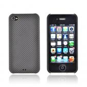 Original Luxmo Platinum Lux Jacket AT&amp;T/ Verizon Apple iPhone 4, iPhone 4S Hard Case w/ Screen Protector - Black Carbon Fiber