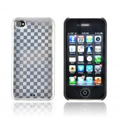 Original Luxmo Platinum Lux Jacket AT&T/ Verizon Apple iPhone 4, iPhone 4S Hard Case w/ Screen Protector - Gray Textured Checker